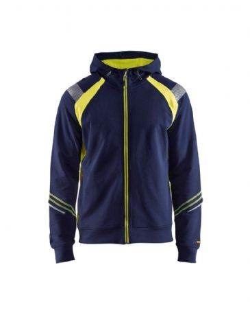 Blaklader 3433 Hoodie Full Zip (Navy Blue/Yellow)